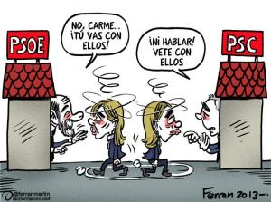 Chacón a la que ni los males del PSOE ni del PSC, parecieran quererlos mucho.