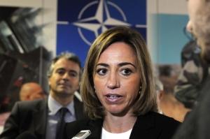 Carmen Chacón, como ministra de Defensa aprobando el escudo antimisiles en Rota, sin pasarlo por el Congreso de Diputados