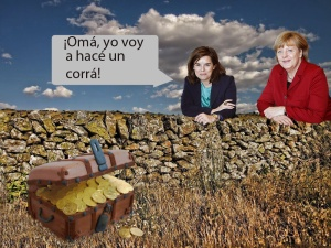 ¿Soraya enseñándole a Merkel el corralilo español?