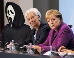 Merkel, Lagarde del FMI y Chipre