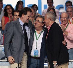Rajoy, Zoido secretario del PP de Andalucía, Arenas, el que más sobres ha cobrado de Bárcenas