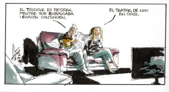 Rubalcaba y Chacón, un teatro en crisis