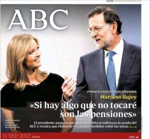 Lo que valen la plabra o la promesasa de Rajoy (ABC, 11.09.2012)