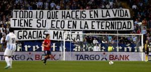 Al inicio del partido con el Osasuna, la imagen que ofrecía el fondo norte