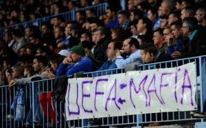La ira de toda la afición malagueña contra la UEFA