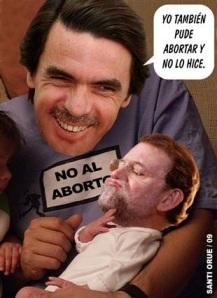 Rajoy contemplado hoy por Aznar como un mal parto que tuvo