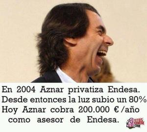 Aznar cobrando como expresidente y al servicio de intereses de lobbies privados, como González, sin que lo prohíba la ley