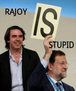 Un Rajoy, tomado por Aznar como un estúpido