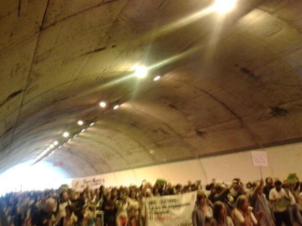 Parte final en el tunel
