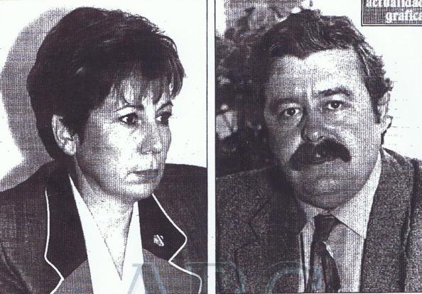 La alcaldesa real, Celia Villalobos, con el alcalde moral de IU, Antonio Romero