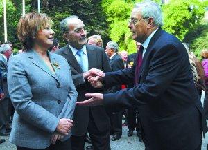 Los tres alcalde de la democracia. Pedro Aparicio (1979-1995) Celia Villalobos (1995-2000) (Fco de la Torre (2000-    )