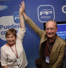 Celia Villalobos y Francisco de la Torre