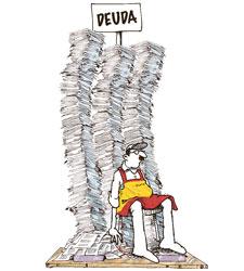 Pesada deuda pública que en el 2012 ha significado el pago de alrededor de lo 39.000 millones de € en pago de intereses