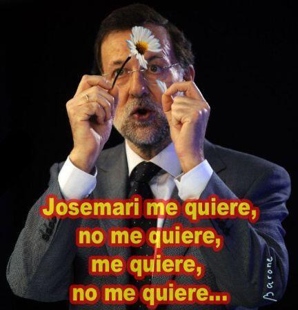 El deshoje de la margarita por Rajoy sobre su papá político, José María Aznar
