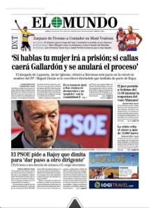 Portada sobre la mafia del PP en el diario El Mundo, lunes 15.07.2013