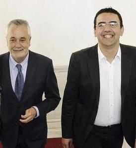 Griñán y su guardaespalda orgánico, el Ni-NI Mario Jiménez