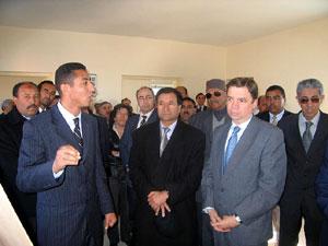 Luis Planas, embajador de España en Marruecos con las autoridades alauitas