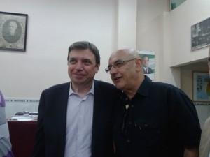 Excusándole a Luis Planas en su venida a Málaga capital, por expreso deseo de Carlos Sanjuán, que fuera secretario general del PSOE-A, que me llamó al efecto, su apoyo y aval con su firma.