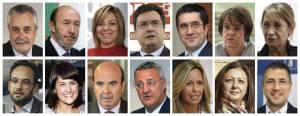 La ejecutiva de Rubalcaba del PSOE, que dejó hacer a Griñán