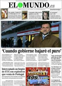 Rajoy no se refería al paro sino al puro