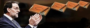 Cajas de puros llenas de millones de pesetas que el extesorero del PP, Álvaro Lapuerta, que llevaba en mano a Rajoy a su despacho ministerial