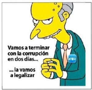 La corrupción, mal endémico en estos momentos en la vida política que tiene ingignada a una ciudadanía que además está soportando la crisis económica y a todos los niveles.