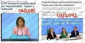 Un falso PP preocupado por la evasión de capitales, vía Gibraltar, cuando condenó la amnistía fiscal estando en la oposición para aplicarla cuando llegó al Gobierno. Así es de fiar, ahora también con Gibraltar