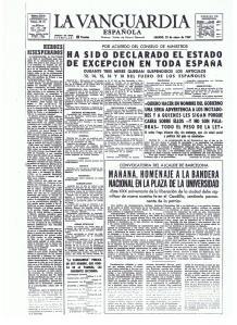 Estado de Excepción decretado por Franco en 1969, previo al cierre de la Verja con Gibraltar