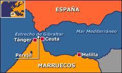 Situación geográfica de Gibraltar, Ceuta, Melilla y la Isla de Perejil