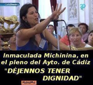 Inmaculada Michinina, un símbolo de la ciudadanía contra Teófila Martínez