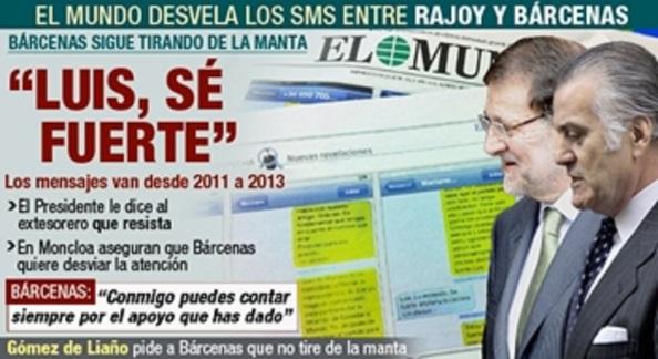 Rajoy Bárcenas SMS Sé Fuerte