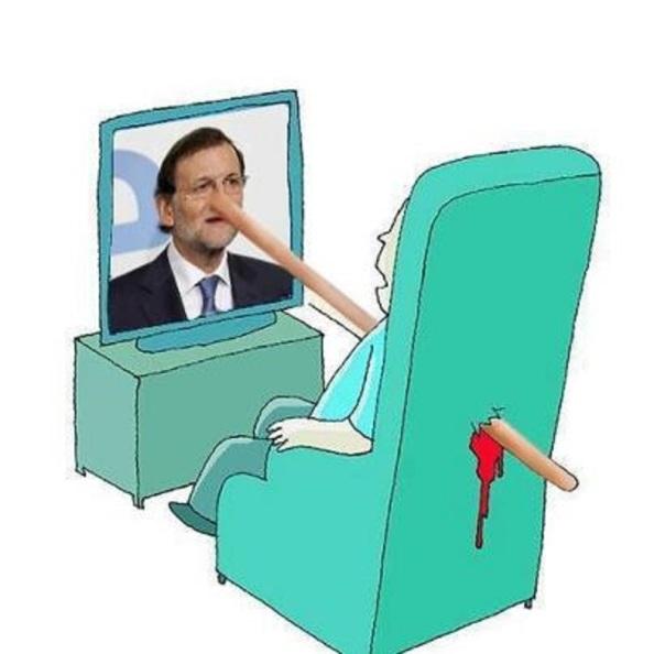 """El 72% de los españoles rechazaron por mentirosa la intervención de Rajoy, por lo que como televidentes de su comparecencia debieron sentirse """"asesinados"""""""