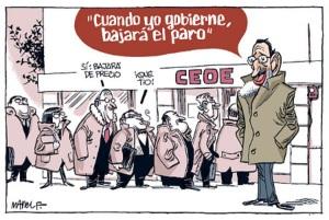 El paro de Rajoy y la CEOE