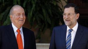 El Rey y Rajoy. LLevan sus cañlvarios