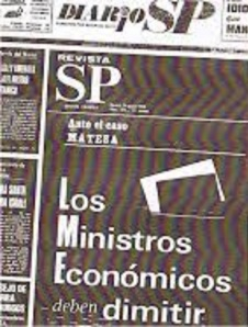 Al diario SP falangista contra el OPus Dei, le costó este titular, por adelantarse a los ceses, su cierre definitivo. No lo tuvieron que secuestrar sino tan solo cortarle el crédito oficial