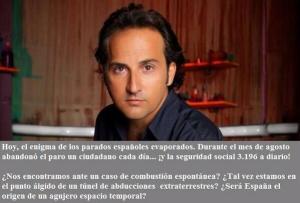 """Iker Jiménez del programa de misterios de la Cadena SER """"Cuarto Milenio"""" también se puso a hacer interpretaciones sobre las cifras de paro"""