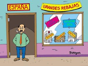 Lo público en España se vende mientras se empobrecen los bolsillos y la calidad de vida de la ciudadanía
