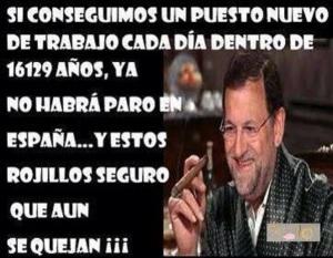 Mariano Rajoy, eufórico con la cifra de bajada del paro, también haciendo cuentas de futuro