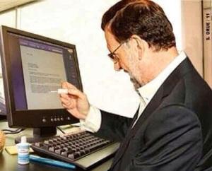 Rajoy, borrando las pruebas que tenía Bárcenas en su ordenador