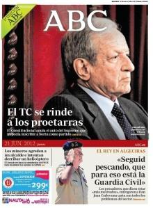 A tres meses de que ETA declarara el fin de su lucha armada, todavía el ABC creía que las medidas del Estado de Derecho reforzaban a ETA