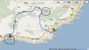 Comunicación por carretera entre los municipios de Alhaurín el Grande y Marbella