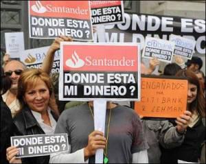 Los estafados espanoles por la banca reclaman justicia