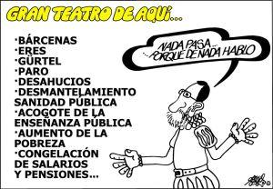 Sí Rajoy no habla de los temas que le espinan y los demás creen que son ignorantes, le funciona la fórmula de los recortes