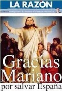 Para la caverna subvencionada por La Moncloa, lo de Mariano Rajoy supera el milagro nacional.