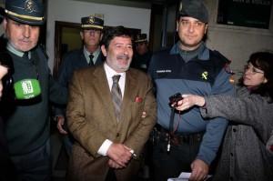 Javier Guerrero, detenido por la Guardia Civil por orden de la juez Alaya. Lamentable, no para reírse.