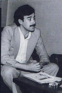 Luciano Alonso cuando en 1978, aún no siendo del PSOE, daba clases en el Colegio Público de Churriana (Málaga)