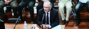 Juicio por la operación Troya, declarando el alcalde Martín Serón