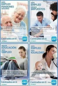 Eslóganes publicitaros del programa del PP que Dios le mandaba a Rajoy, el mayor timo electoral cometido