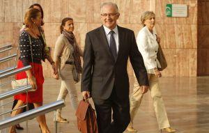 Martín Serón en el Palacio de Justicia de Málaga, cuatro meses antes de celebrarse su juicio