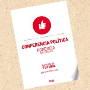 Portada de la ponencia de la Conferencia del PSOE con